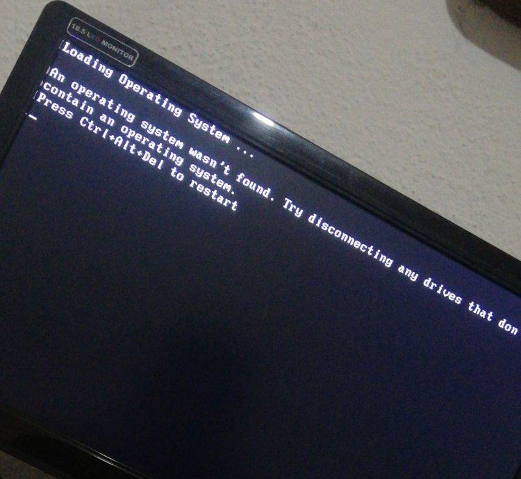 Loading Operating System Hatası Çözümü
