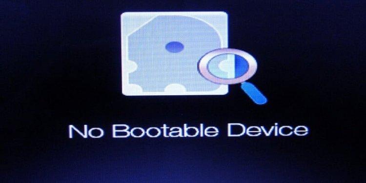 No Bootable Device Hatası Çözümü