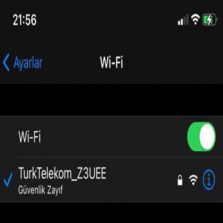 Wifi Güvenlik Zayıf Sorunu